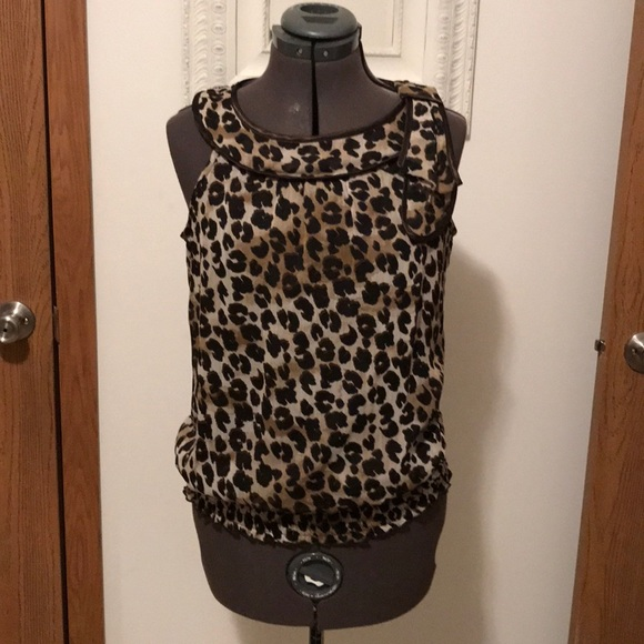410583fe63b2 Bwear Tops | B Wear Animal Print Sleeveless Blouse | Poshmark